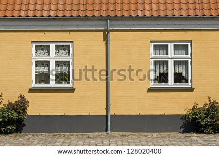 House facade in danish village. Denmark
