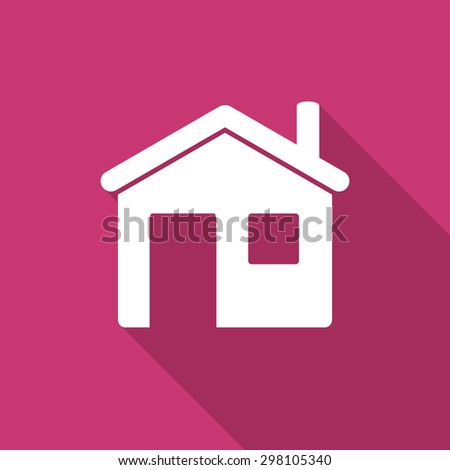 house flat design modern icon with long shadow for web and mobile app  - stock photo