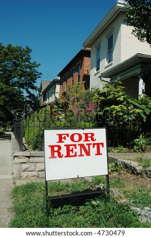 house for rent - stock photo