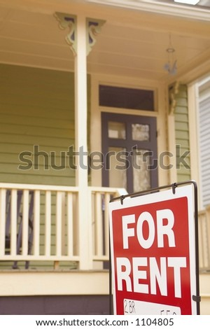House for rent sign - stock photo