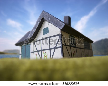 House for renting at the beach - stock photo
