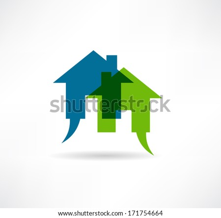 house for sale icon - stock photo