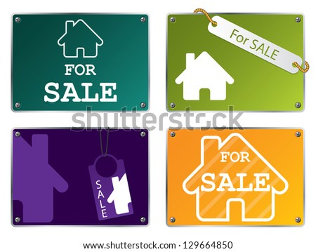House for sale tablet designs - stock photo