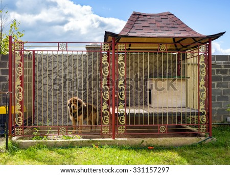 House for the dog in Tibetan style on the smallholding