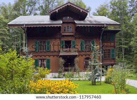 House from Burgdorf built in the �«chalet�» style - stock photo