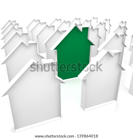 house green - stock photo