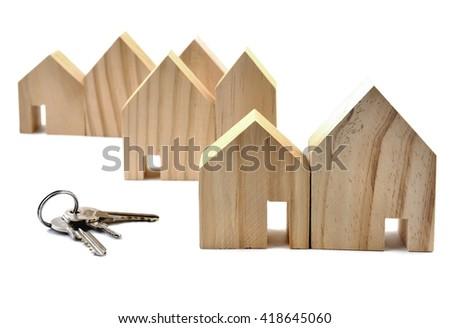 House. House Key, House on white. House and key on white. House Key.. House concept. House Key.. House and key isolated on white. House and Key. - stock photo