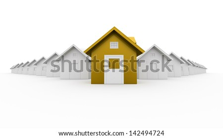 House icon concept front is yellow
