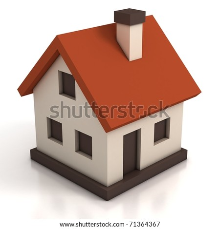 house icon 3d illustration - stock photo