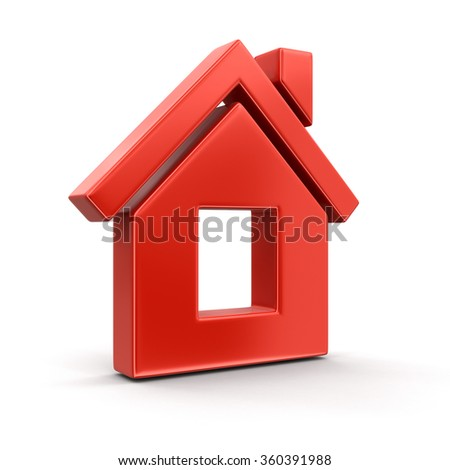 House. Image with clipping path. - stock photo