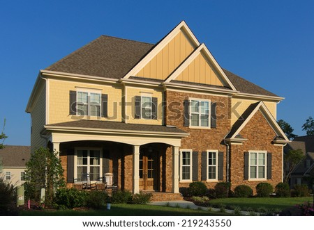House in Cary, NC. - stock photo