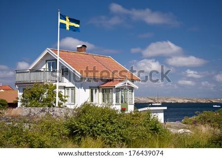 House in Kaeringoen in Sweden - stock photo