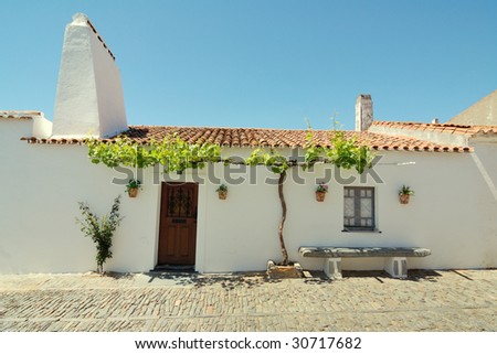House in medieval village - stock photo