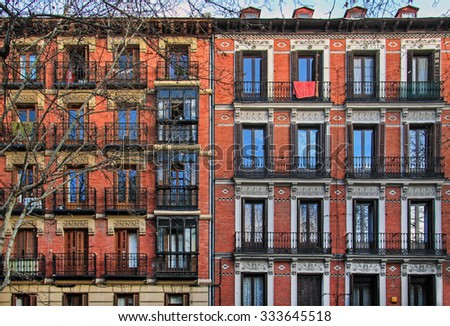 House in old quarter of Madrid