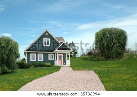 House in rural Area - stock photo