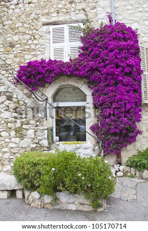 House in Saint-Paul de Vence, south of France - stock photo