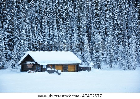 House in snow area