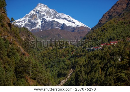 House in the mountains of Nepal - stock photo