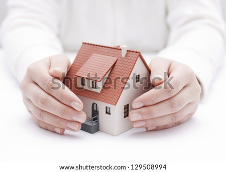 House insurance - stock photo