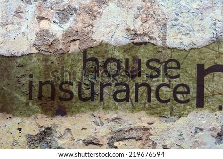 House insurance concept - stock photo