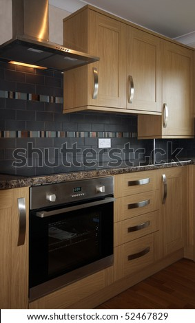 House Interior ? Beech Kitchen in UK home