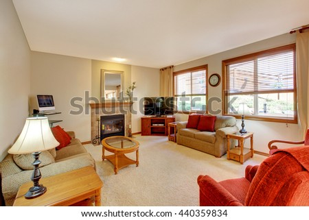 Cozy Luxury Family Room High Ceiling Stock Photo 474091243