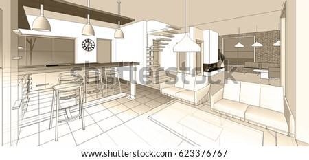 Interior Design Sketch Stock Images Royalty Free Images Vectors