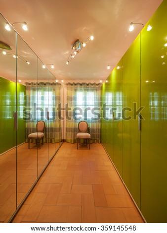 House interiors furnished, wardrobe - stock photo