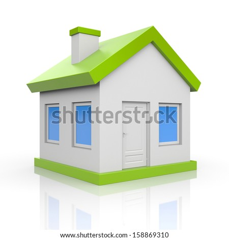 House. Isolated on white - stock photo