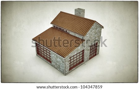 house isolated on white background
