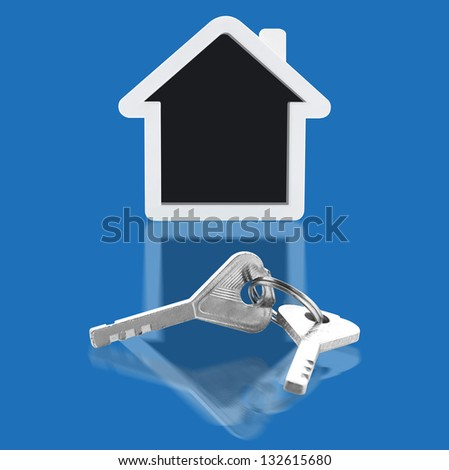 House key and home - stock photo
