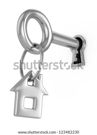 House key 3d concept - stock photo
