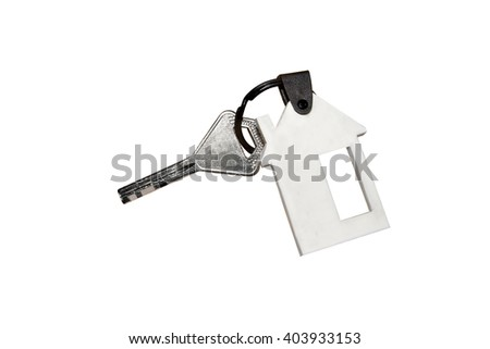 House key  isolated on white background with clipping path.