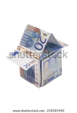 House Made From Twenty Euro Banknotes