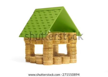 house made of money - stock photo