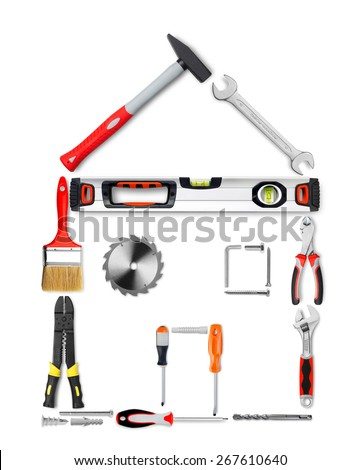 House made of tools - stock photo