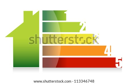House market and colorful graph illustration design - stock photo