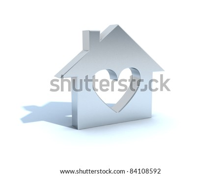 house metaphor - stock photo