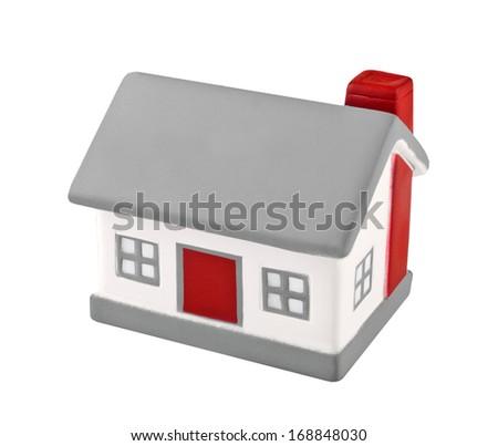 House model toy plastic isolated on white background - stock photo