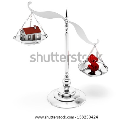 House Mortgage on the white background - stock photo