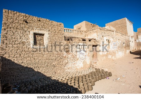 House near of Al Qasr, old village in Dakhla Desert, Egypt