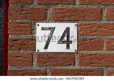 House number seventy four (74)