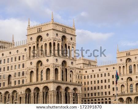 House of Government Baku, Azerbaijan. - stock photo