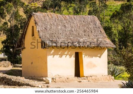House of Ingapirca, Inca city,  Canar Province, EcuadoEcuador - stock photo