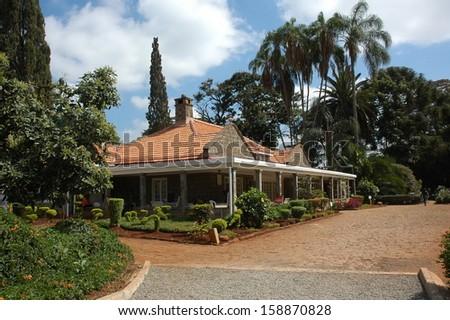 House of Karen Blixen in Kenya, close to Nairobi  - stock photo