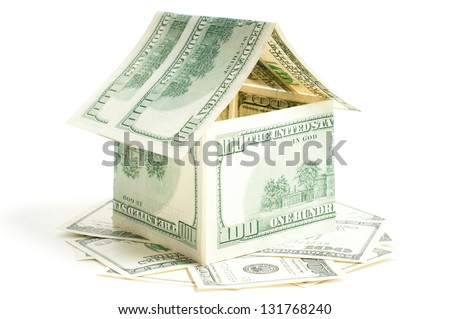House of one hundred dollar bills - stock photo