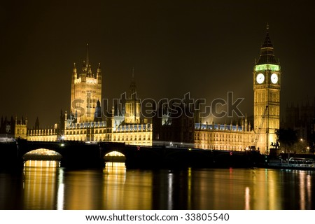 House of Parliament and Big Ben in London, United Kingdom - stock photo