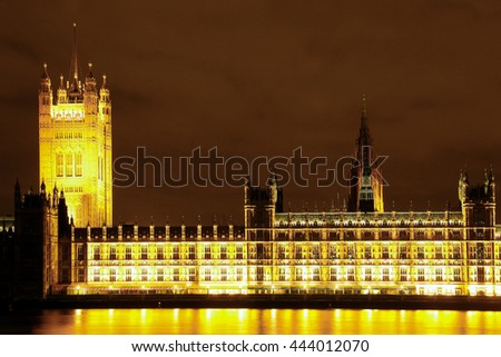 House of parliament and the Big Ben. - stock photo