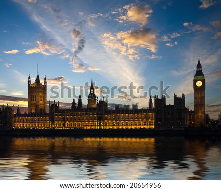 House of Parliament in London, United Kingdom
