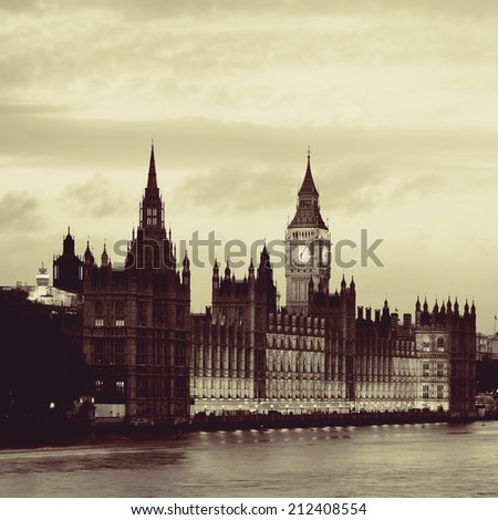 House of Parliament in Westminster in London. - stock photo
